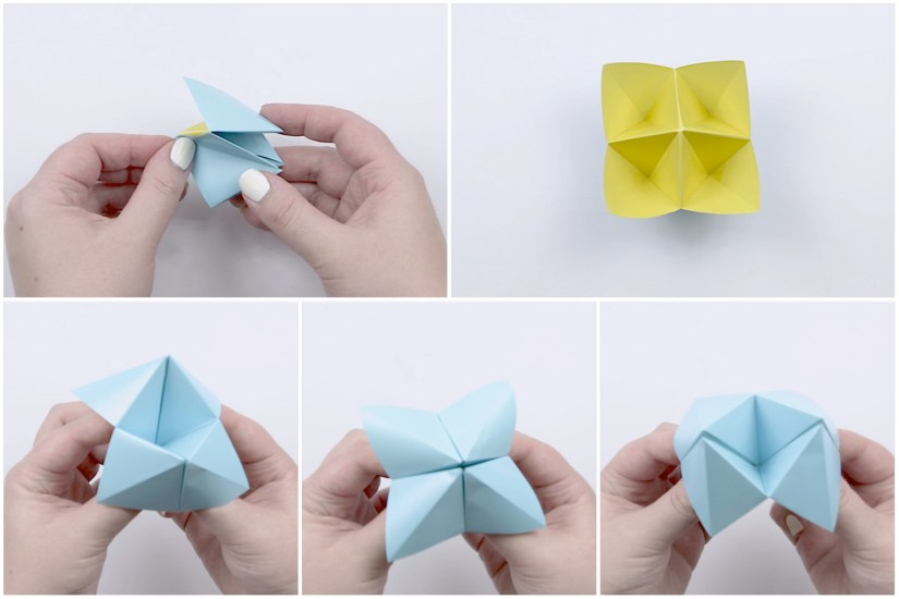19. Here you can see how to hold the fortune teller.