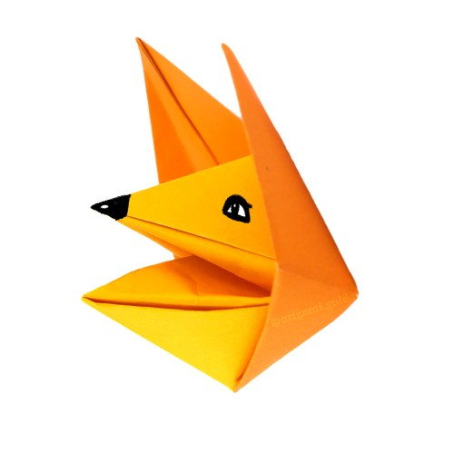 How To Make An Origami Fox Puppet