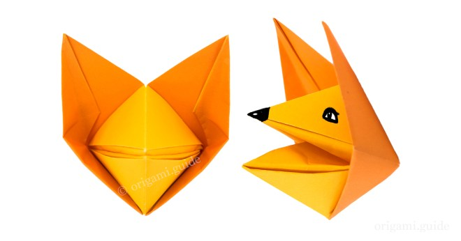 Origami Fox. How to make a cute Fox - YouTube | 346x660