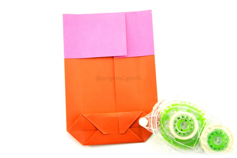 18. Use some glue or double sided tape to secure the bottom of the bag.
