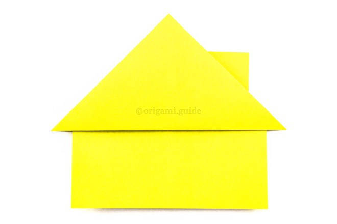 17. Flip the model over and now you will have an origami house with a chimney.