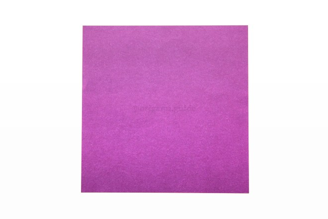 2. This is the front of the paper, your box will end up being this colour. Start this side up.
