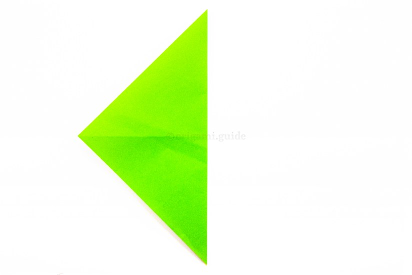 5. Fold the right point over to the left point.