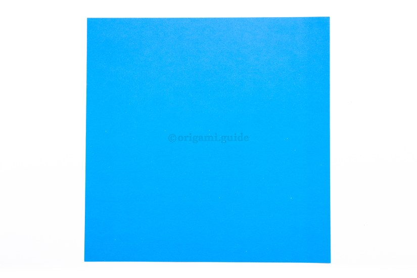 2. This is the front of the paper, our origami balloon will end up this color.