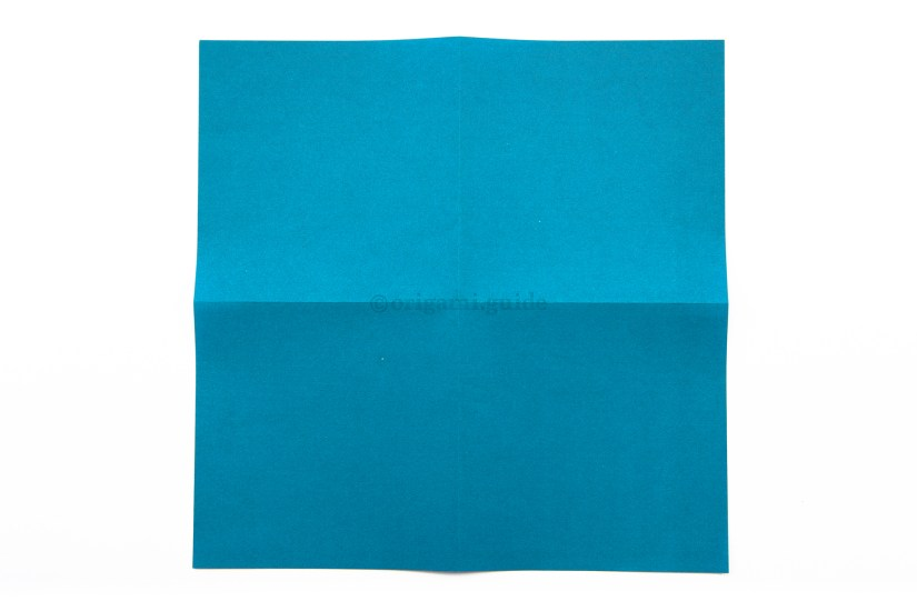 7. Flip the paper over to the other side.