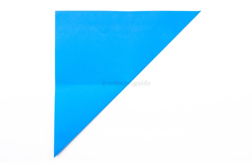 8. Fold the bottom right corner diagonally up to the top left corner.