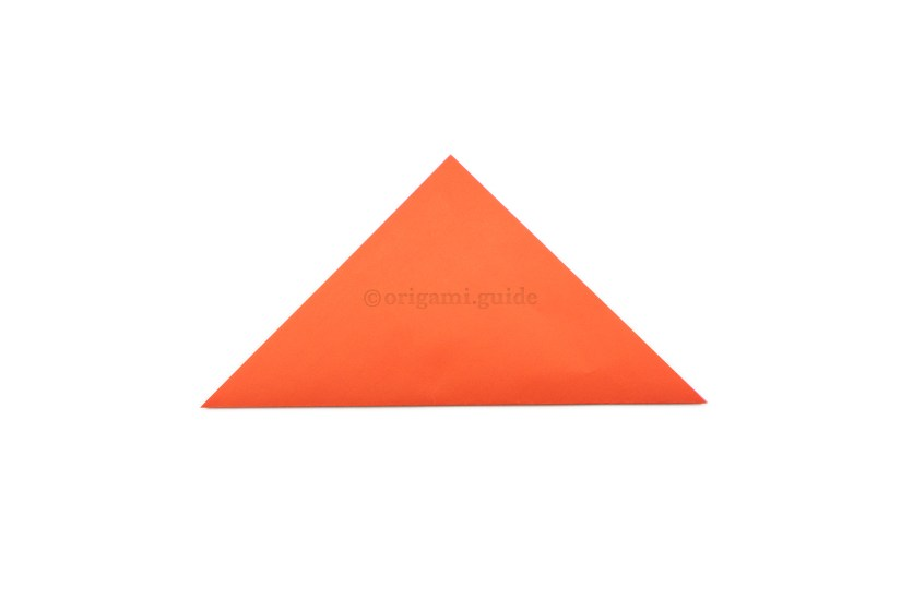 3. Fold the bottom point up to the top point.