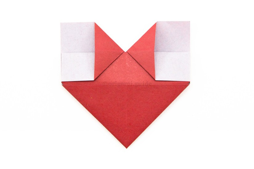 17. Flatten the top section of the heart.