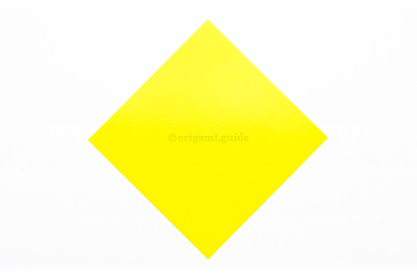 1. This is the front of our origami paper, the origami star will be this colour.