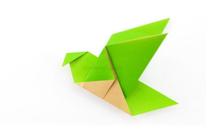 12. Fold a 'beak shape' over.