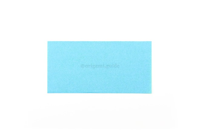 5. This is the front of your rectangular sheet, the butterfly will be this colour at the end.