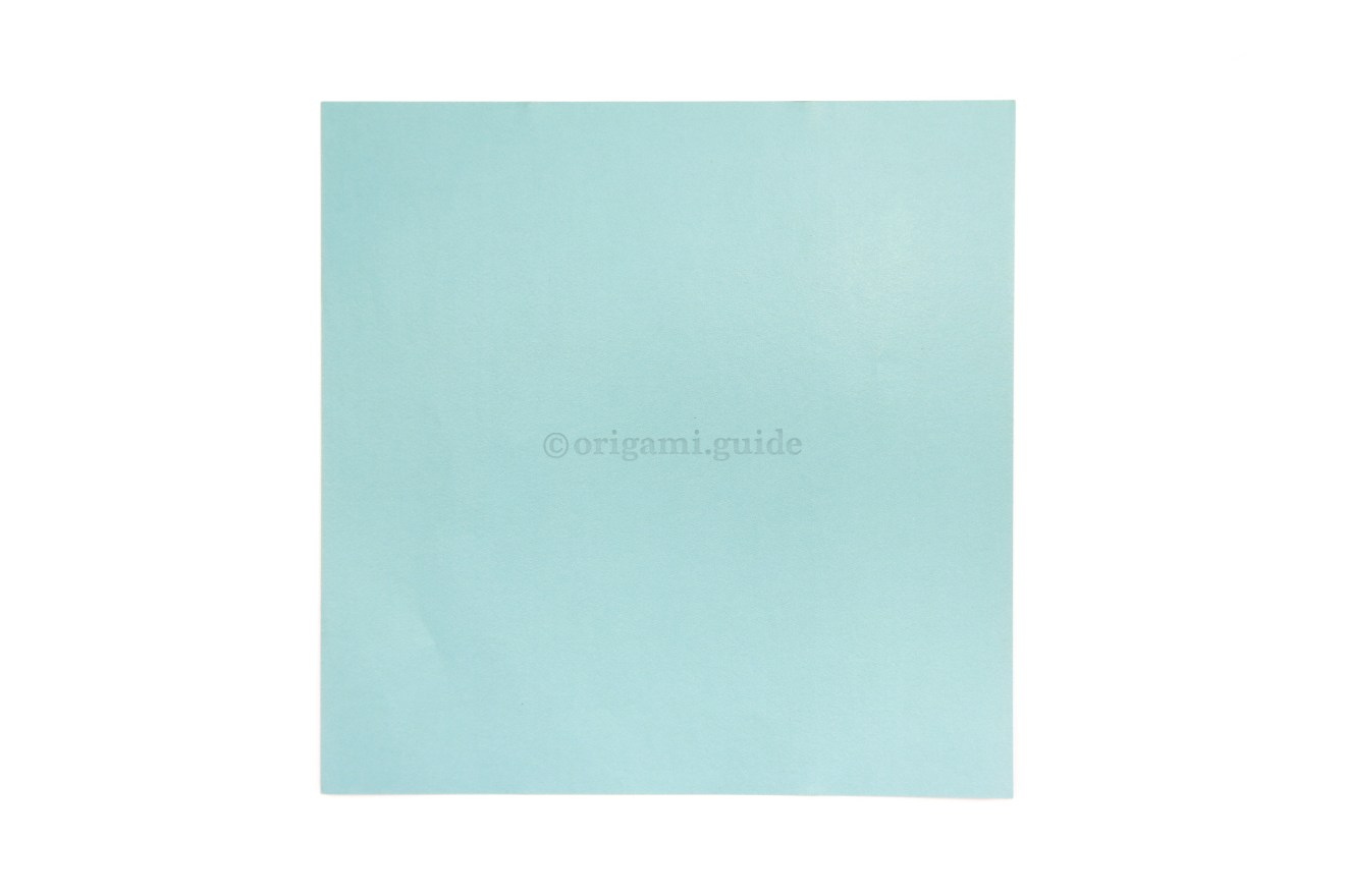 2. This is the back of our origami paper, which is usually white.