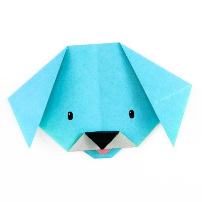How To Fold An Easy Origami Dog Face