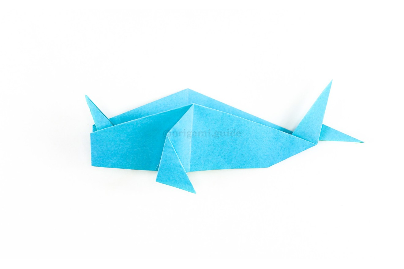 Fold the whale back in half and then pull the narwhal's tusk into a good position.
