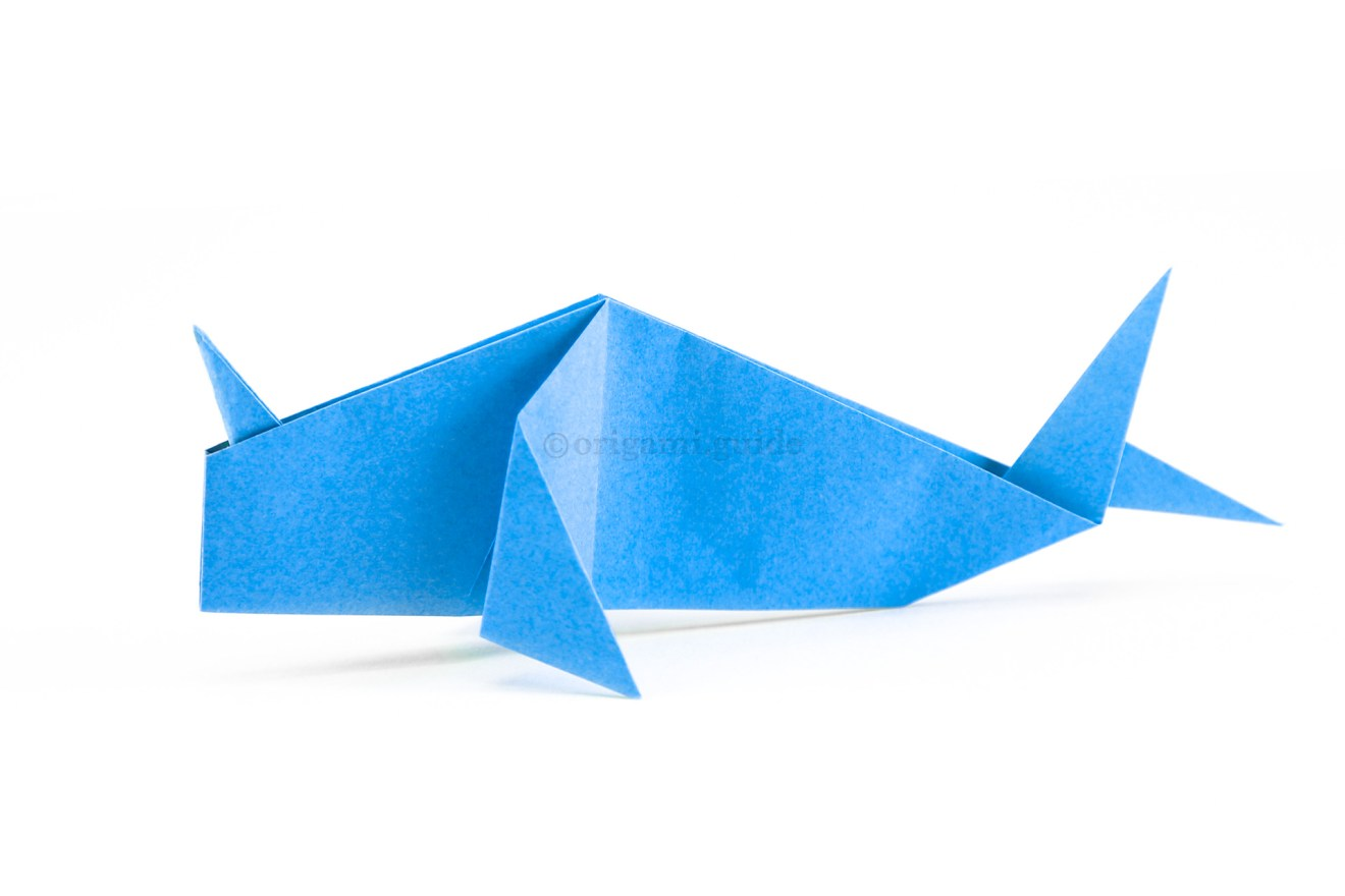 The origami narwhal is done!
