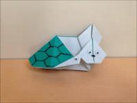 折り紙のうさぎと亀 簡単な折り方