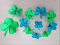折り紙の四つ葉のクローバー 簡単な折り方