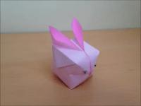 折り紙のうさぎの風船 簡単な折り方
