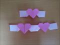 折り紙のハートのリボン 簡単な折り方
