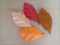折り紙 落ち葉(枯れ葉)簡単な折り方