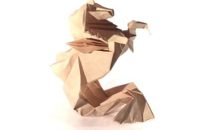 Origami Hippocampus by Roman Diaz