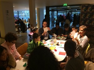 People folding at the London Mini-Meeting