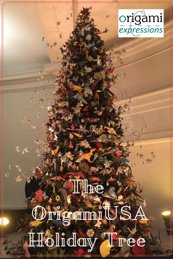 Info about the 2015 OrigamiUSA Holiday Tree at the American Museum of Natural History in NYC. An annual tradition, definitely worth a visit.