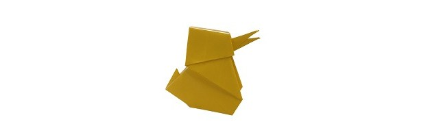 An Easy Origami Easter Chick!