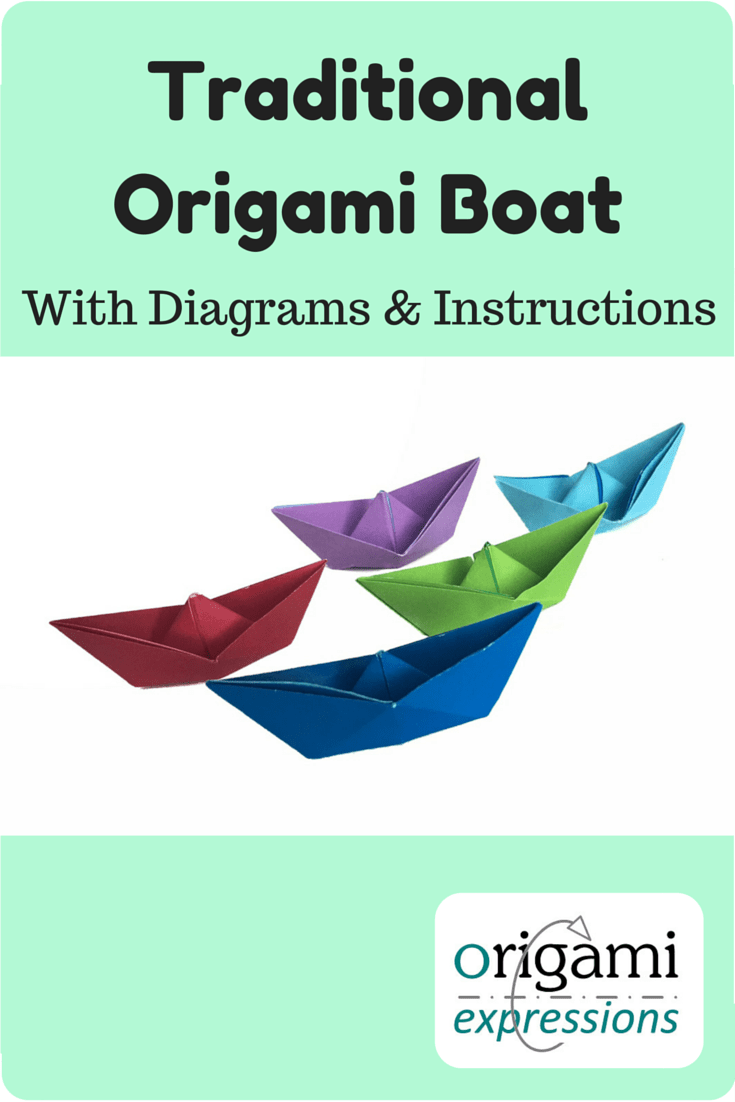 traditional origami boat with instructions origami