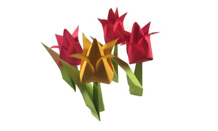 Traditional Origami Tulip Video
