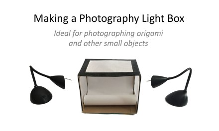Quality origami photography on the cheap!