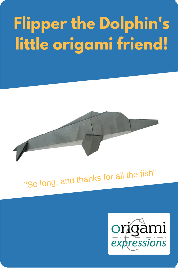 Dolphins are difficult to design in origami. This review of Hsi-Min Tai's origami dolphin explains why, and also why this solution is a good one. Includes what it's like to fold and where to get the diagrams to fold it.