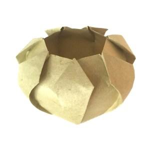 Laser-scored Pot, designed by Robert Lang