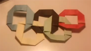 AliveOrigami's Origami Olympic Rings