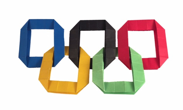 Make your own Origami Olympic Rings!