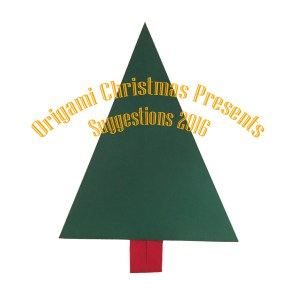 "Traditional Christmas Tree ""origamiexpressions.com"" Origami Christmas Presents Suggestions"