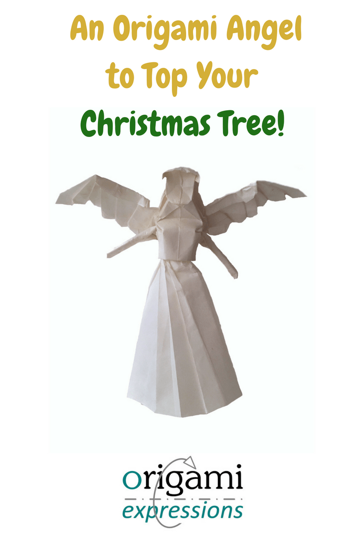 A review of Tadashi Mori's Origami Angel 3.0. A great origami model for the top of your Christmas Tree with a link to the video tutorial!