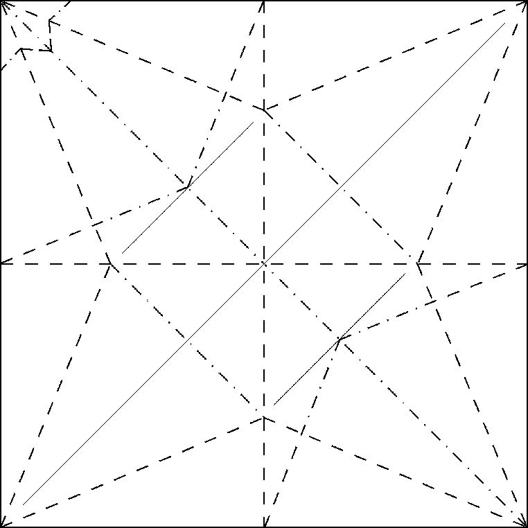 Flapping Bird Crease Pattern