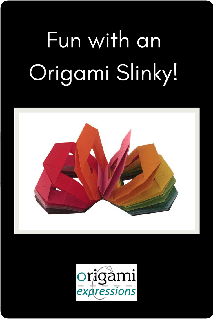 Everyone loves an origami slinky! Review of Gay Merrill Gross's model. Includes info on the best paper to use & a link to the video tutorial