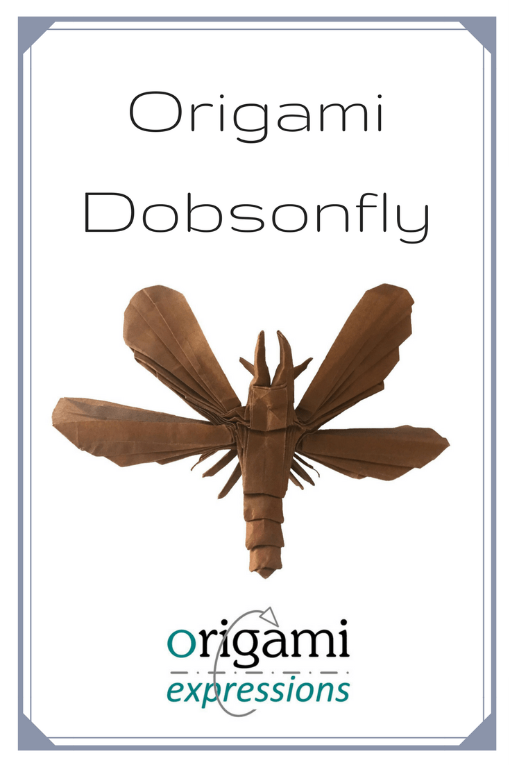 Review of Brian Chan's origami Dobsonfly design. Thoughts on folding from the crease pattern, paper choice, and link to a video tutorial