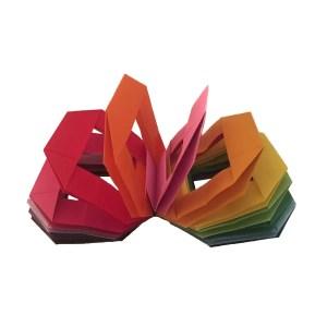 "Origami Slinky designed by Gay Merril Gross ""Fun with an Origami Slinky"" www.origamiexpressions.com"