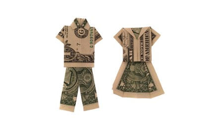 His and Hers Money Origami Clothes