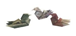 "Mandarin Duck by Gay Merrill Gross ""Money Origami Mandarin duck"" origamiexpressions.com"