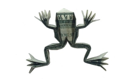 A Money Origami Frog – not bad for a dollar!