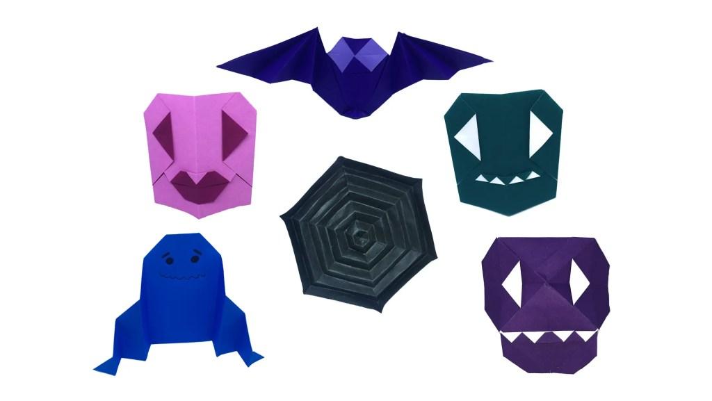 "Halloween Origami Models designed by Stephane Gigandet ""Origami for Halloween"" origamiexpressions.com"