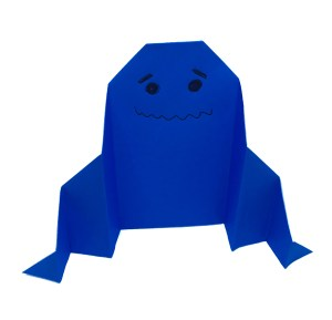 """Easy Origami Ghost by Stephane Gigandet """"Origami for Halloween"""" origamiexpressions.com"""