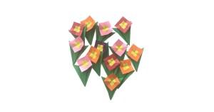 """Gay Merrill Gross's Pocket Posy """"An Origami Pocket Posy"""" www.origamiexpressions.com"""