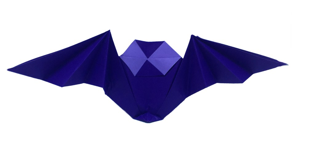 """Origami Bat by Stephane Gigandet """"Origami for Halloween"""" origamiexpressions.com"""