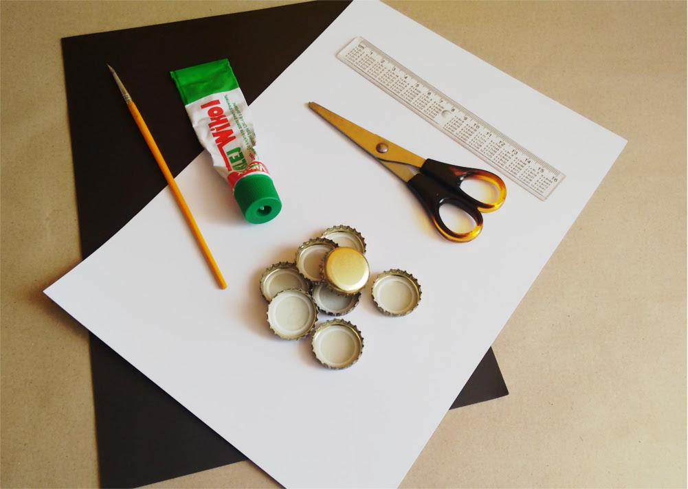DIY Ramka na zdjęcie z kapsla + magnes na lodówkę