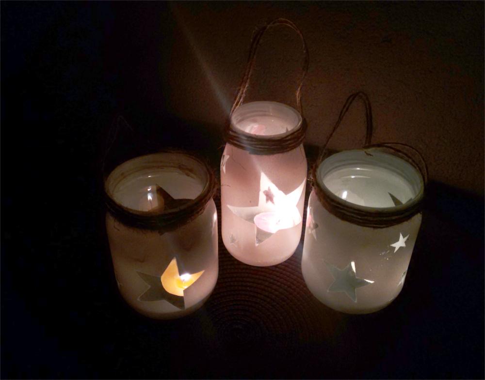 DIY Balkonowe lampiony ze słoików